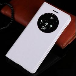 Asus Zenfone 5 A500KL A500CG A501CG - bílé flipové pouzdro + ochranná fólie