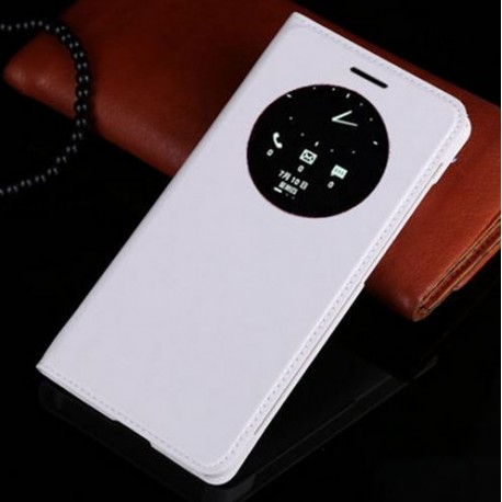 Asus Zenfone 5 A500KL A500CG A501CG - white flip pouch + protective film