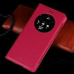 Asus Zenfone 5 A500KL A500CG A501CG - tmavě růžové flipové pouzdro + ochranná fólie