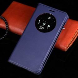 Asus Zenfone 5 A500KL A500CG A501CG - dark blue flip pouch + protective film