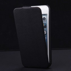 Apple iPhone 5 5S - Luxury PU leather - black housing