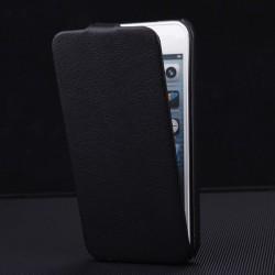 Apple iPhone 5 5S - Luxusné PU koža - čierne puzdro