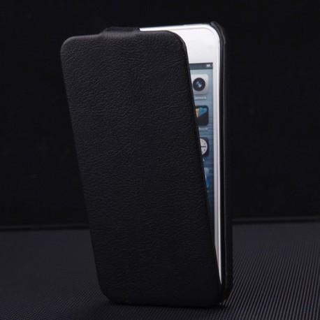 Apple iPhone 5 5S - Luxusní PU kůže - černé pouzdro