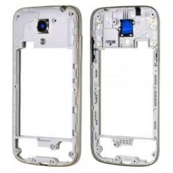 Samsung Galaxy S4 mini i9190 i9195 - rámeček, stříbrný střední díl, housing