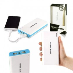 Powerbank - 30.000mAh - white / blue