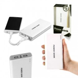 Powerbank - 30.000mAh - white / gray