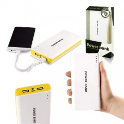 Powerbanka - 30.000mAh - bílá / žlutá