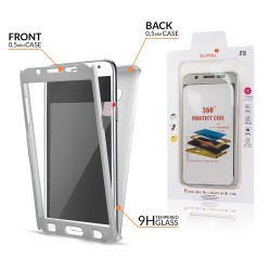 Samsung Galaxy A5 2016 A510 - přední a zadní ochranný kryt s ochrannou fólií - stříbrný