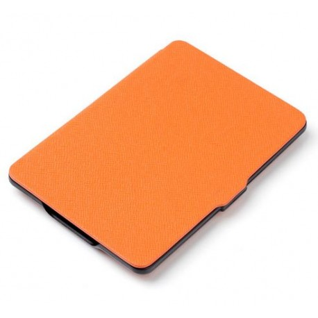 Kindle Paperwhite - orange pouch reader of books - Magnetic - PU leather - an ultra-thin hard cover