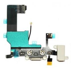 Nabíjací konektor, audio konektor, kábel s mikrofónom pre Apple iPhone 5 - biela