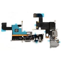 Nabíjací konektor, audio konektor, kábel s mikrofónom pre Apple iPhone 6 - šedá