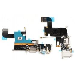 Nabíjací konektor, audio konektor, kábel s mikrofónom pre Apple iPhone 6 - biela
