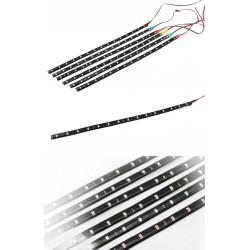 Taśma LED 12V DC 120cm 60 LED - wodoodporna - biała