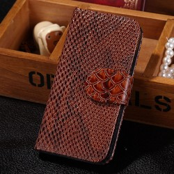 Apple iPhone 5 5S - PU Leather - Brown Case