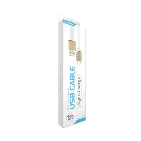 iMyMax Business Micro USB Cable - White / Gold