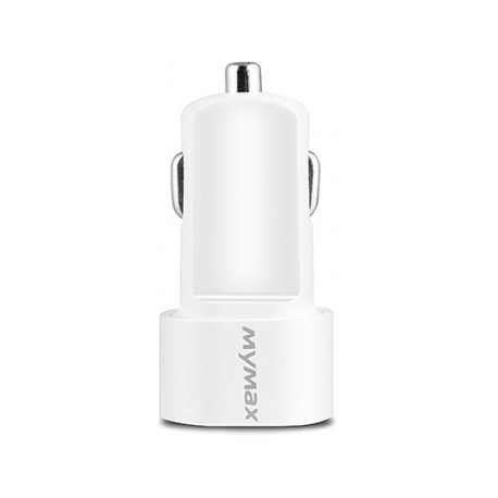 iMyMax Car Charger 3.1A, 2x USB - White