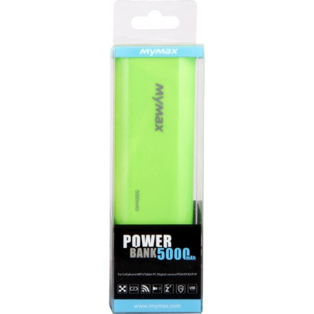 iMyMax Fashion zelená POWERBANK - 5.000mAh