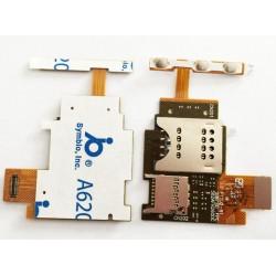 Flex kabel modul SIM + SD karta + zapínací tlačítka pro Sony Xperia J ST26 ST26i
