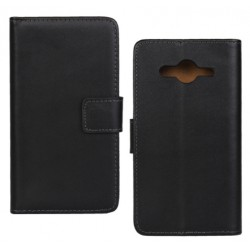 Samsung Galaxy Core 2 G355 - Black Leather Case
