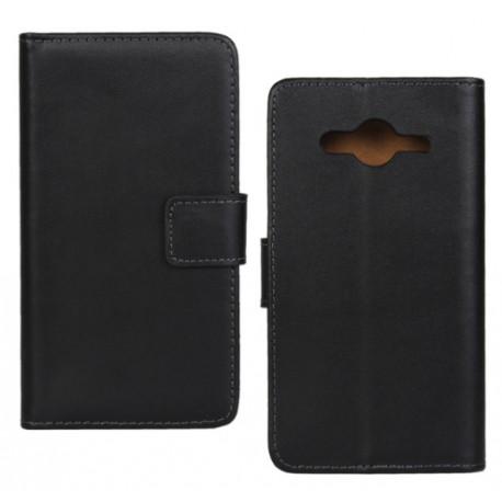 Samsung Galaxy Core 2 G355 - Černé kožené pouzdro