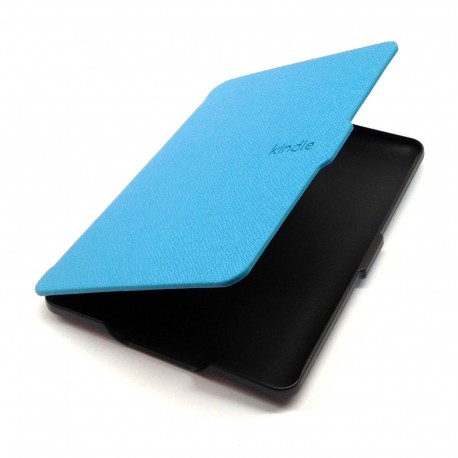 Kindle Paperwhite - light blue Case reader of books - Magnetic - PU leather - an ultra-thin hard cover