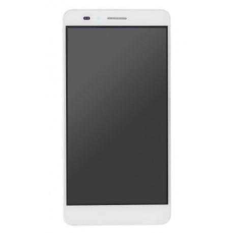 Huawei Honor 5X - bílý LCD displej s rámečkem + dotyková vrstva, dotykové sklo, dotyková deska