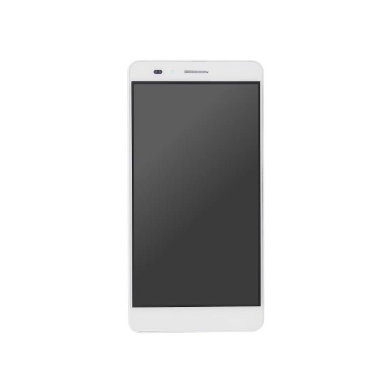 Huawei Honor 5X KIW-AL10 KIW-L21 KIW-L22 KIW L23 L24 TL00 TL00H CL00 UL00 -  biały LCD z ramką + panel dotykowy, szkło dotykowe, panel dotykowy