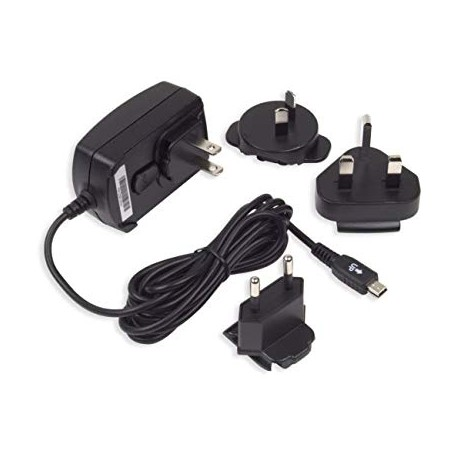 BlackBerry ASY-06338 travel charger with several extensions - mini USB