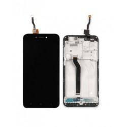 Xiaomi Redmi 5A - czarny wyświetlacz LCD z ramką + panel dotykowy, szkło dotykowe, panel dotykowy