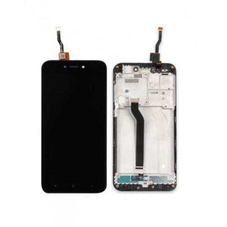 Xiaomi Redmi 5A - černý LCD displej s rámečkem + dotyková vrstva, dotykové sklo, dotyková deska