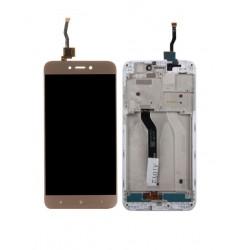 Xiaomi Redmi 5A - zlatý LCD displej s rámčekom + dotyková vrstva, dotykové sklo, dotyková doska