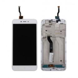 Xiaomi Redmi 5A - biały wyświetlacz LCD z ramką + panel dotykowy, szkło dotykowe, panel dotykowy