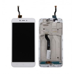 Xiaomi Redmi 5A - white LCD with frame + touch pad, touch glass, touch panel