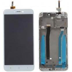 XIAOMI Redmi 4X - Bílý LCD displej s rámečkem + dotyková vrstva, dotykové sklo, dotyková deska