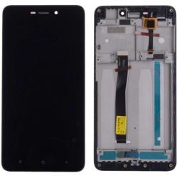 Xiaomi Redmi 4A - černý LCD displej s rámečkem + dotyková vrstva, dotykové sklo, dotyková deska