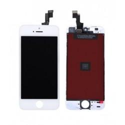 Apple iPhone SE - Bílý LCD displej s rámečkem + dotyková vrstva, dotykové sklo, dotyková deska