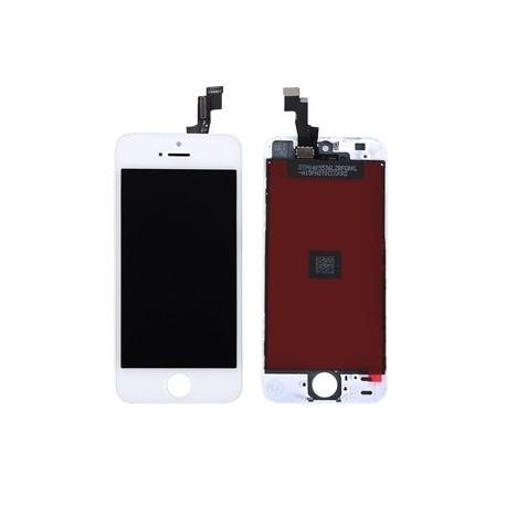 Apple iPhone SE - Biely LCD displej s rámčekom + dotyková vrstva, dotykové sklo, dotyková doska