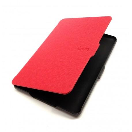 Kindle Paperwhite - červené pouzdro na čtečku knih - magnetické - PU kůže - ultratenký pevný kryt