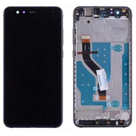 Huawei P10 Lite - čierny LCD displej s rámčekom + dotyková vrstva, dotykové sklo, dotyková doska