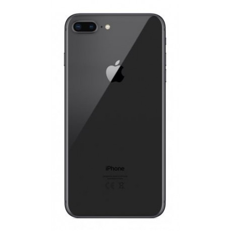 Apple iPhone 8 Plus - battery back cover - black