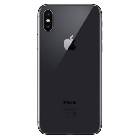 Apple iPhone X - battery back cover - black