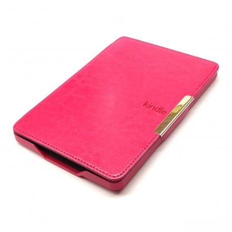 Kindle Paperwhite 5 - růžové pouzdro na čtečku knih - magnetické - PU kůže - ultratenký pevný kryt