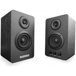 Modecom MC-HF30 2.0 Active Speaker System - černé reproduktory