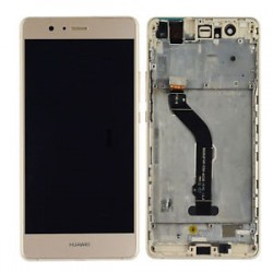 Huawei P9 Lite L23 L23 L23 L53 - Gold touch pad + LCD display with frame