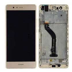 Huawei P9 Lite VNS-L21 L22 L23 L31 L53 - Zlatá dotyková vrstva + LCD displej s rámečkem
