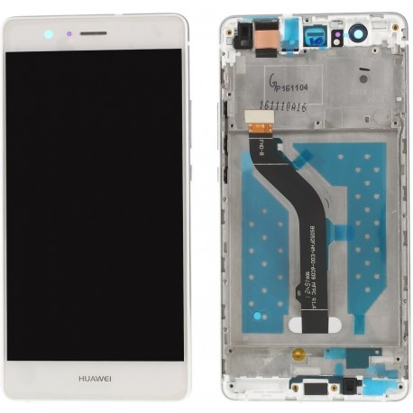 Huawei P9 Lite L23 L23 L23 L53 - White touch pad + LCD display with frame