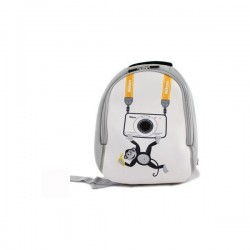 Nikon neoprene backpack - white-gray