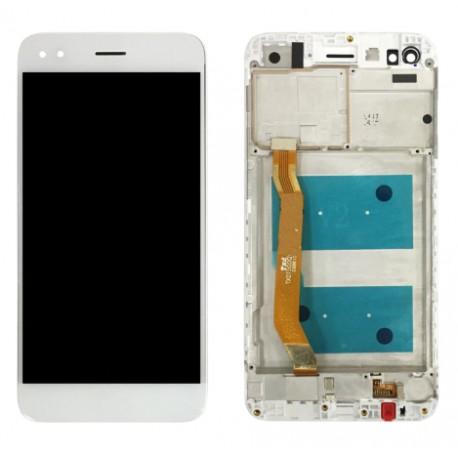 Huawei P9 lite Mini SLA-L02 SLA-L22 SLA-L03 - White touch pad + LCD display with frame