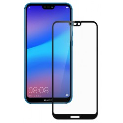 Ochranné tvrdené krycie sklo pre Huawei P20 Lite - čierne