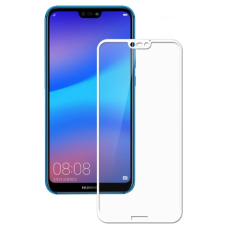 Protective hardened glass for Huawei P20 Lite - white